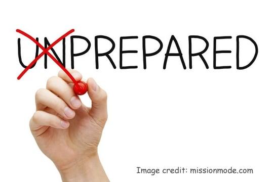 from unprepared to prepared