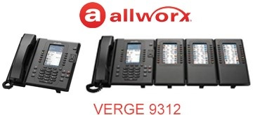 Allworx corded IP phone with integrated Bluetooth: Verge 9312