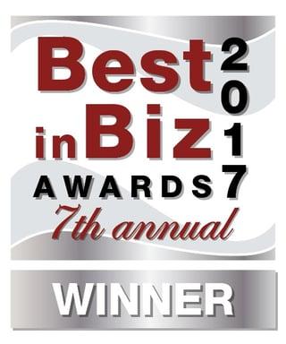 Best in Biz Award 2017 Winner
