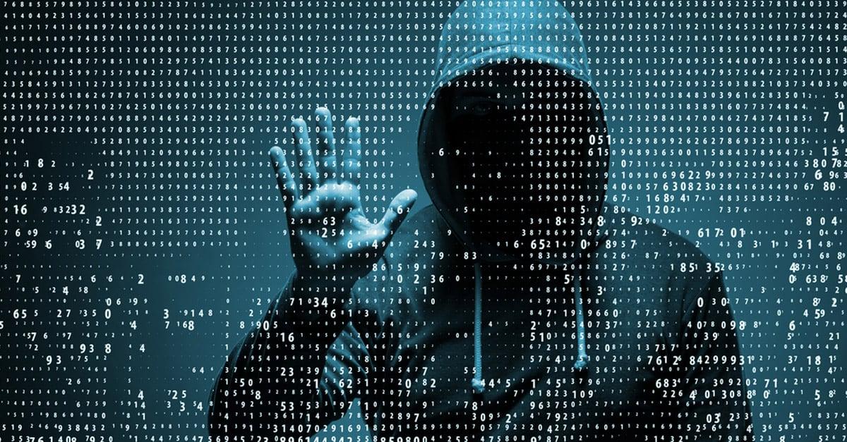 Hacker accessing data