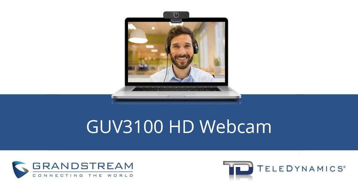 Grandstream GUV3100 HD webcam, distributed by TeleDynamics