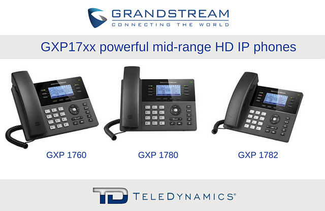 Grandstream GXP1760, GXP1780, GXP1782 mid-range IP phones