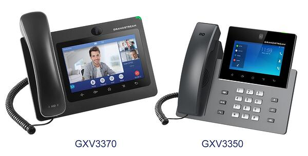 Grandstream GXV3370 & GXV3350 IP video phones