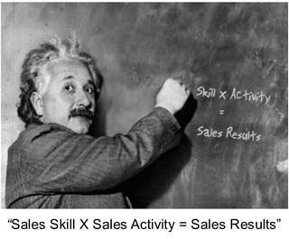 """Sales Skill X Sales Activity = Sales Results"""