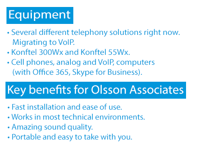 Konftel list of customer benefits