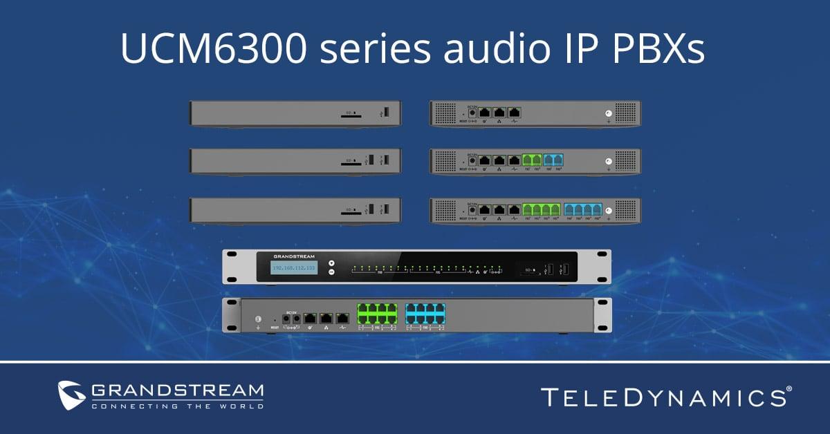 Grandstream UCM6300 Audio Series IP PBX - distributed by TeleDynamics