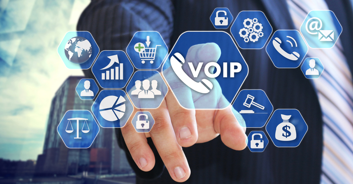 Image with VoIP symbols