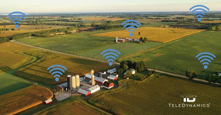 WiMax signals across a rural landscape, on TeleDynamics' blog