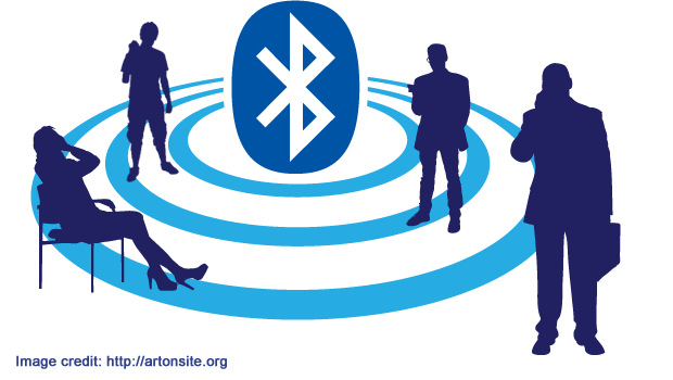 People and accessories connected via Bluetooth
