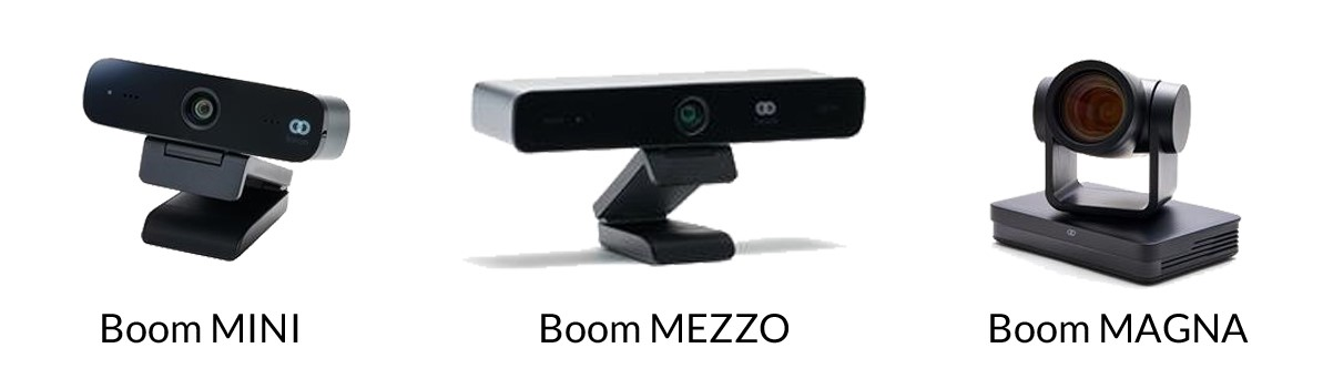Boom Collaboration cameras, distributed by TeleDynamics