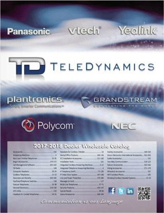 TeleDynamics 2017-2018 catalog with UC and IP products