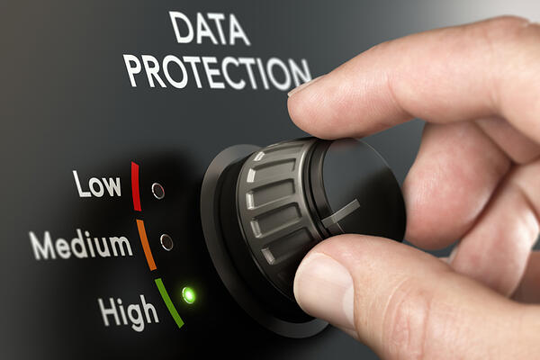 "hand dialing ""data protection"" up to ""high"""