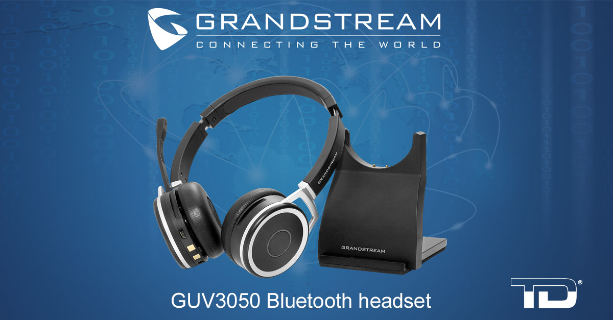 Grandstream GUV3050 Bluetooth headset, distributed by TeleDynamics