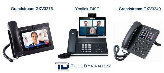 Grandstream GXV3275 vs Yealink T49G vs Grandstream GXV3240 Video Phones - By TeleDynamics
