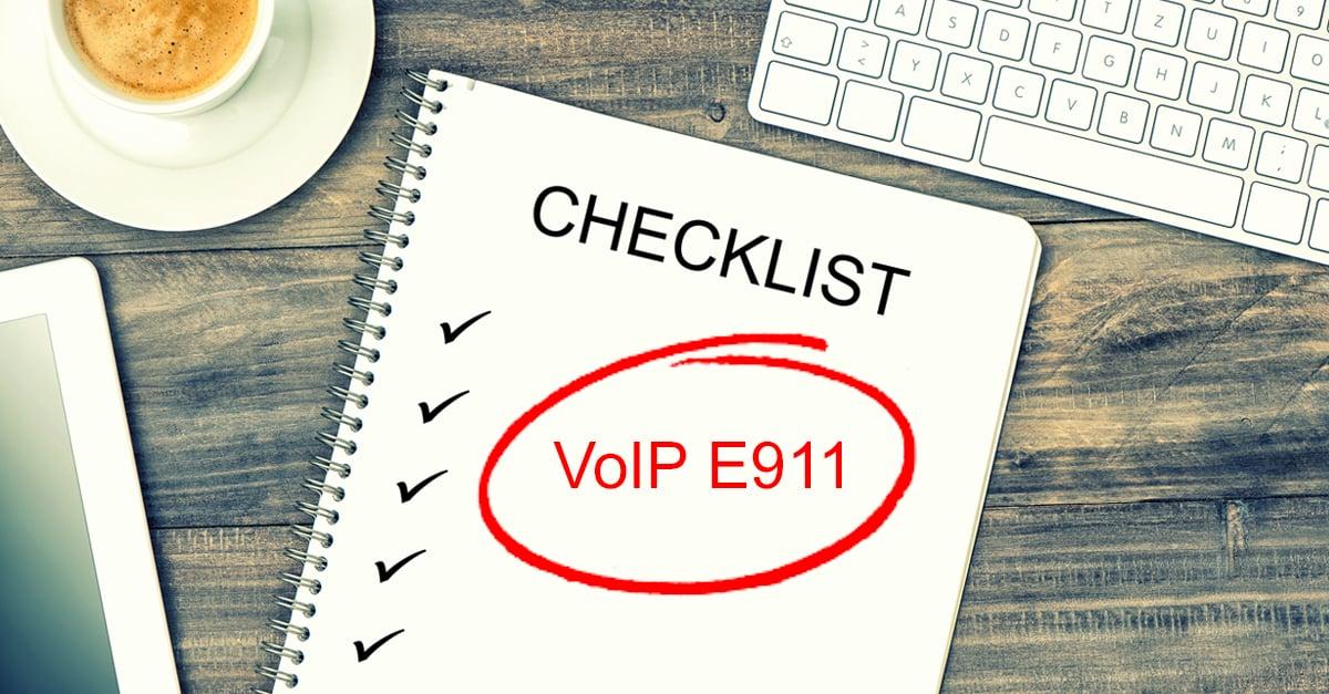 VoIP E911 checklist