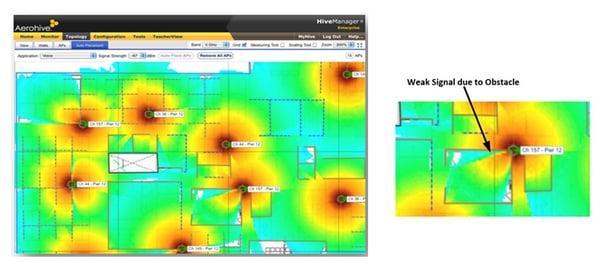 Wi-Fi signal heat map