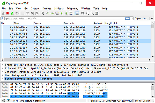 Wireshark packet capture screenshot