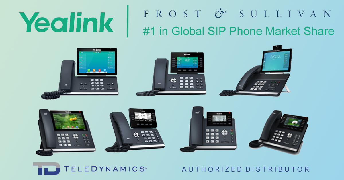 Yealink is #1 in Global SIP phone market share