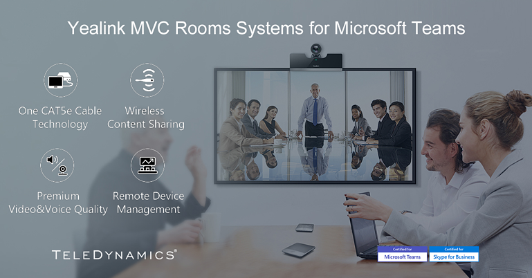 Yealink MVC Rooms Systems for Microsoft Teams, distributed by TeleDynamics