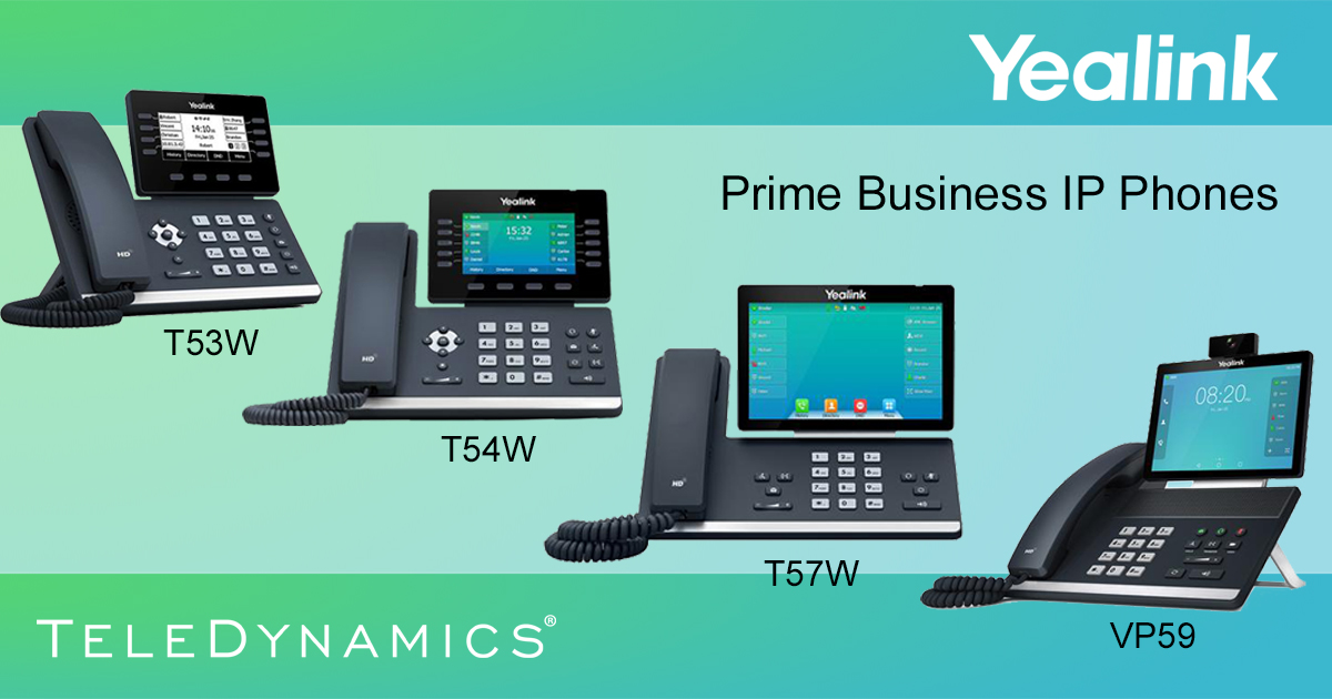 Yealink T53W, T54W, T57W and VP59 Prime Business IP desktop phones