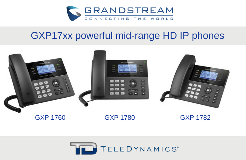 Grandstream GXP17xx series IP phones