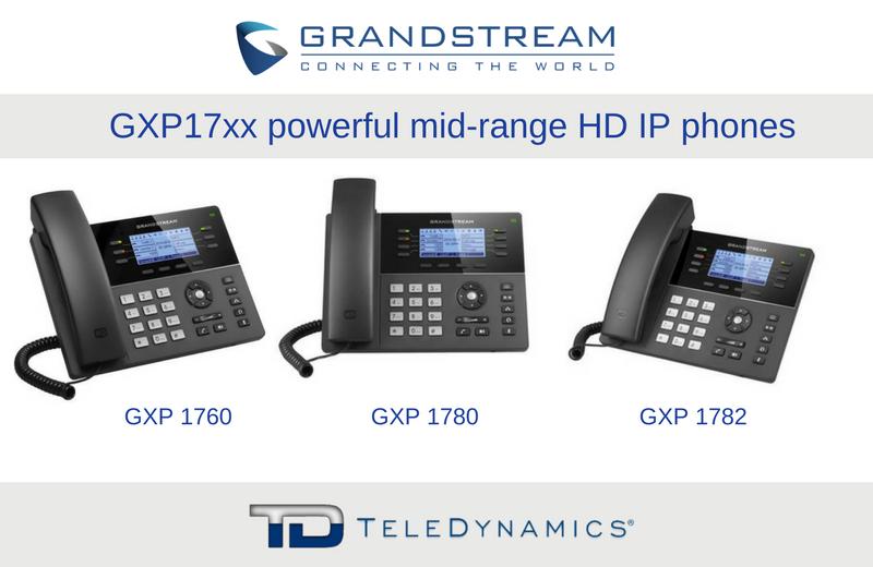 Grandstream GXP17xx series IP phones