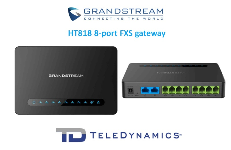 The Grandstream HT818 8-port FXS VoIP gateway