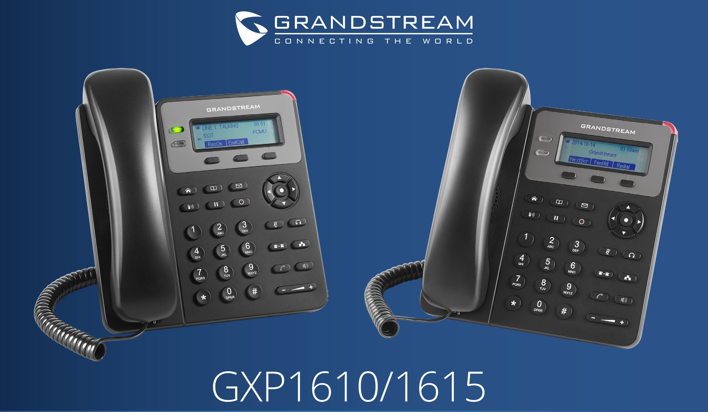 Grandstream GXP1610 and GXP1615 IP phones
