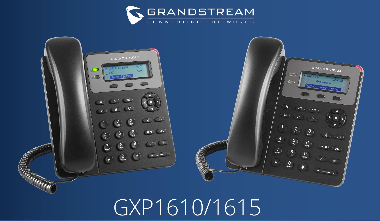 Grandstream GXP1610 and GXP1615 IP phones