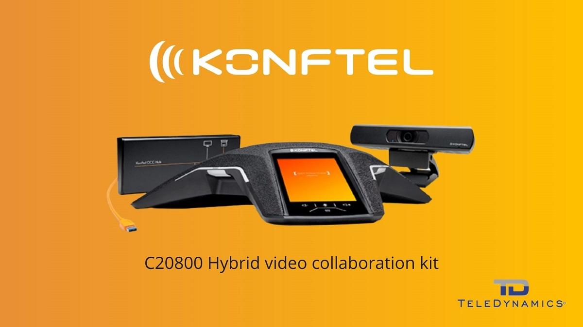 Konftel C20800 Hybrid video collaboration kit - distributed by TeleDynamics