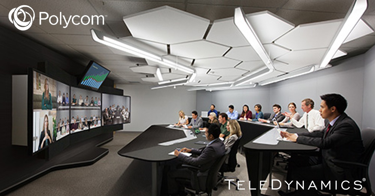 immersive video conferencing by Polycom