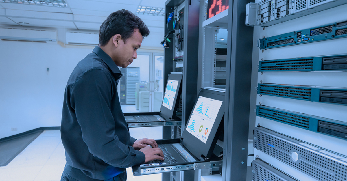 network engineer administrating a network
