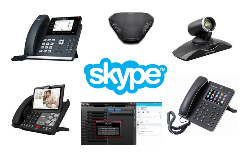 Skype-enabled endpoints - IP phone, analog phone, conference phone, video conferencing system, software add-on