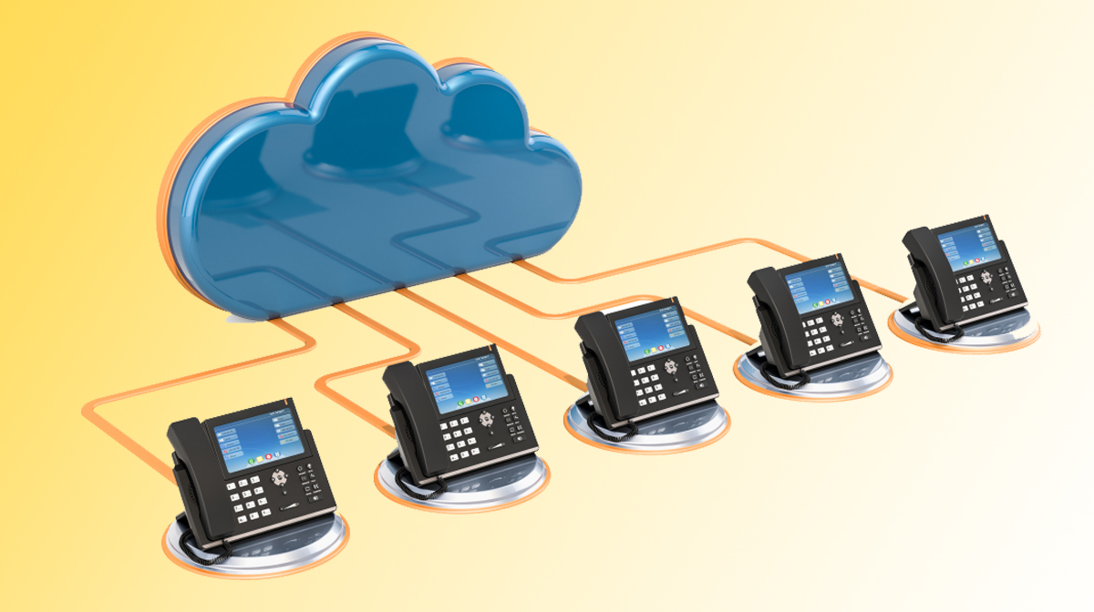 cloud telephony concept
