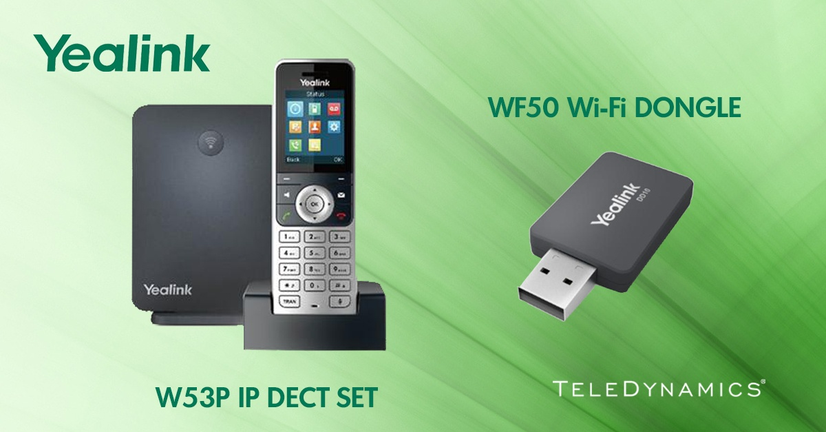 Yealink W53P IP DECT package and WF50 Wi-Fi Dongle